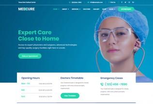 Medcure – Premium Responsive Medical Care WordPress Theme