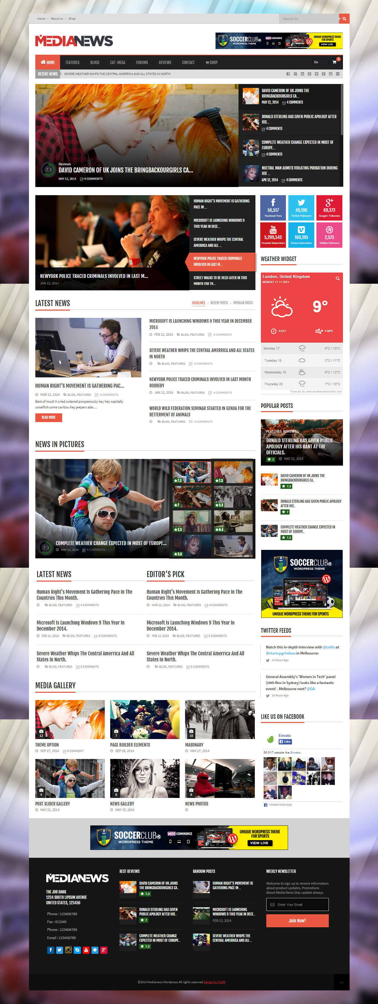 30 Best Responsive Wordpress News And Magazine Themes In 2014