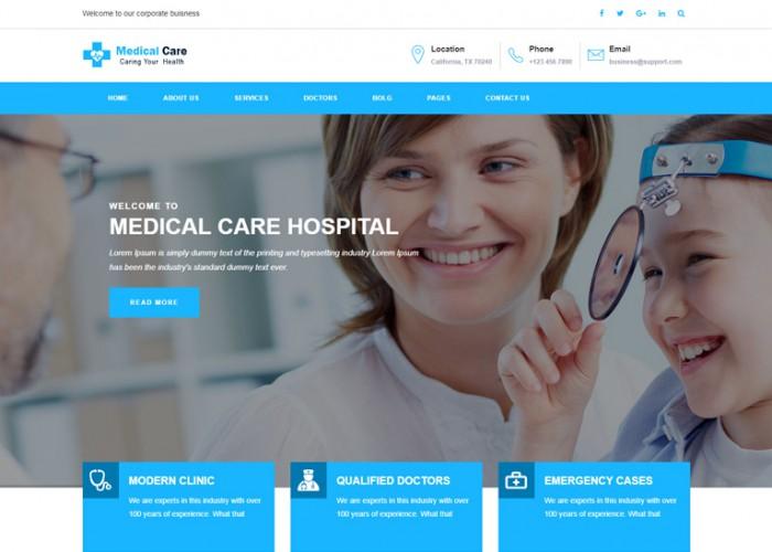 Medical Care – Premium Responsive Health & Medical HTML5 Template