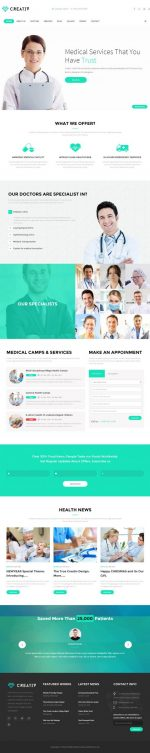 10+ Best Responsive Medical & Healthcare HTML5 Templates 2015