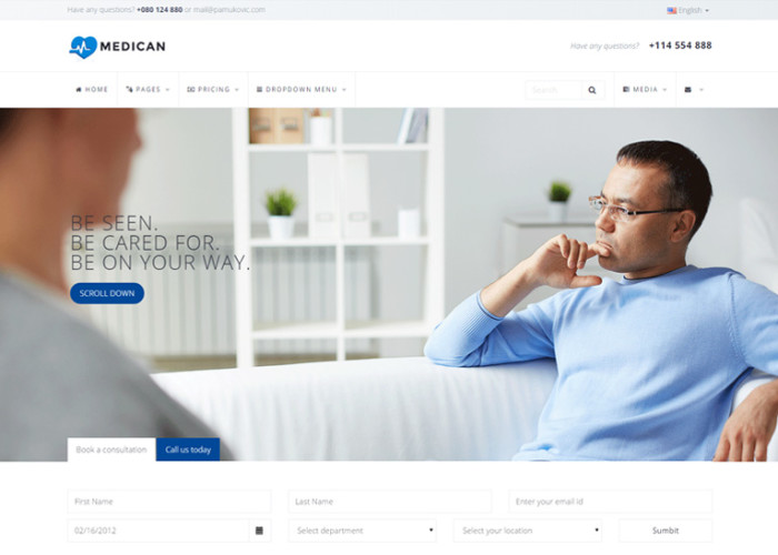 Medican – Premium Responsive Health Medical Hospital HTML5 Template
