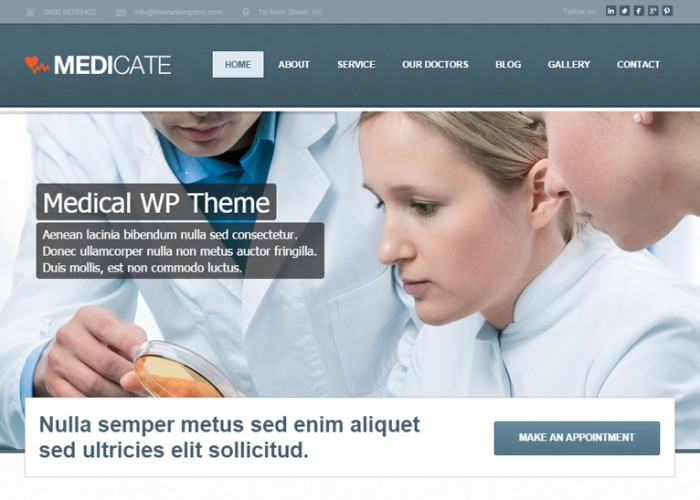 Medicate – Premium Responsive Health and Medical WordPress Theme