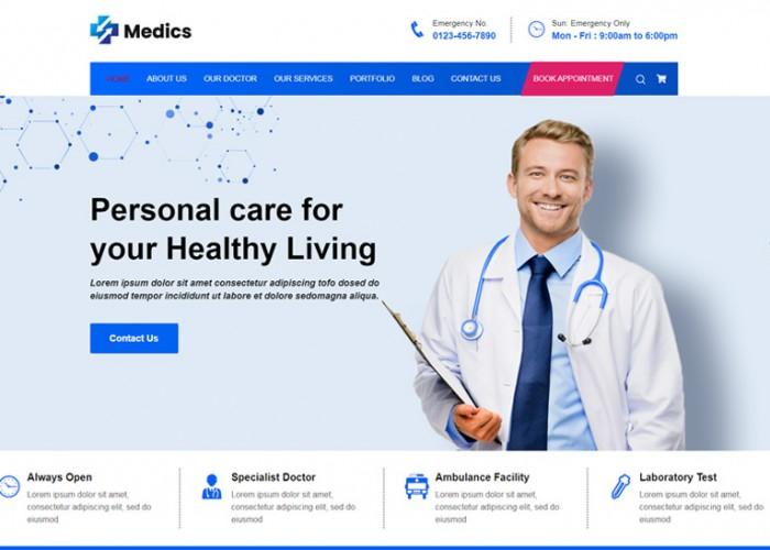 Medics – Premium Responsive Clinic & Pharmacy HTML5 Template