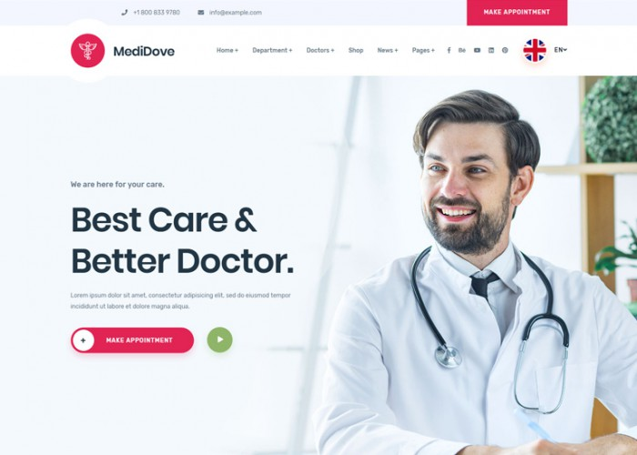 MediDove – Premium Responsive Medical HTML5 Template