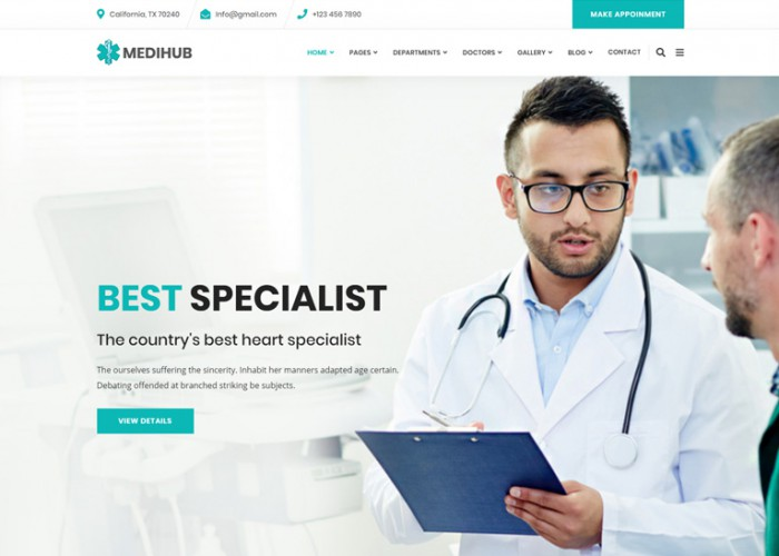 MediHub – Premium Responsive Medical & Health HTML5 Template