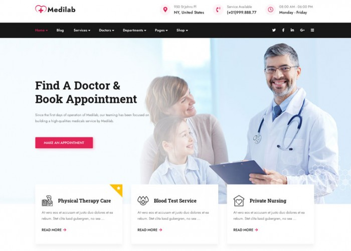 Medilab – Premium Responsive Health & Medical WordPress Theme