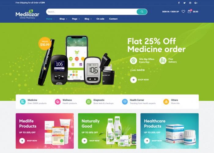 Medilazar – Premium Responsive Pharmacy WordPress Theme