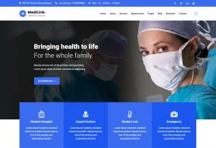 Medilink – Premium Responsive Health & Medical WordPress Theme