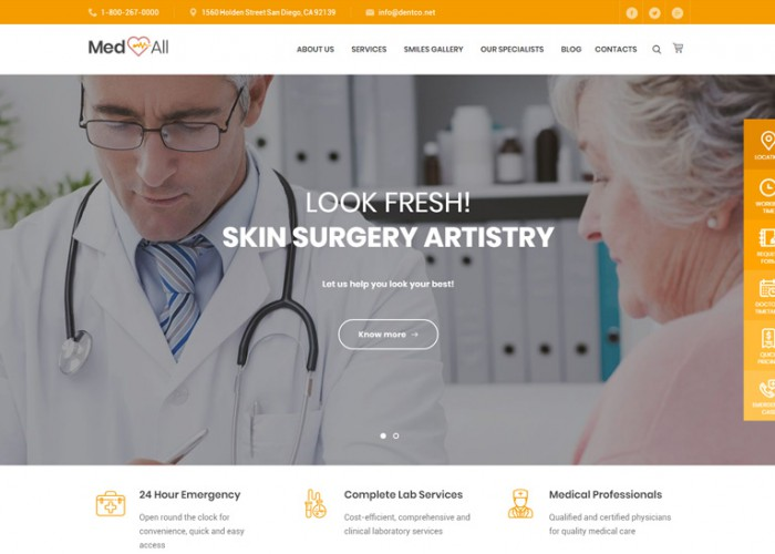 Medin – Premium Responsive Medical Center WordPress Theme