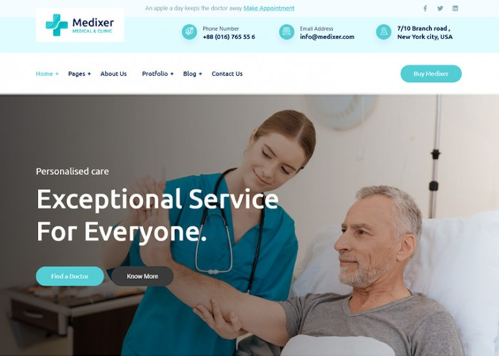 Medixer – Premium Responsive Health & Clinic WordPress Theme