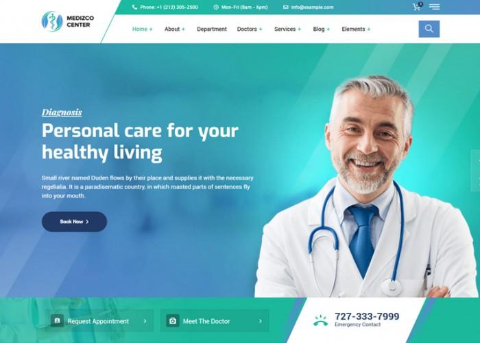 Medizco – Premium Responsive Medical Health WordPress Theme