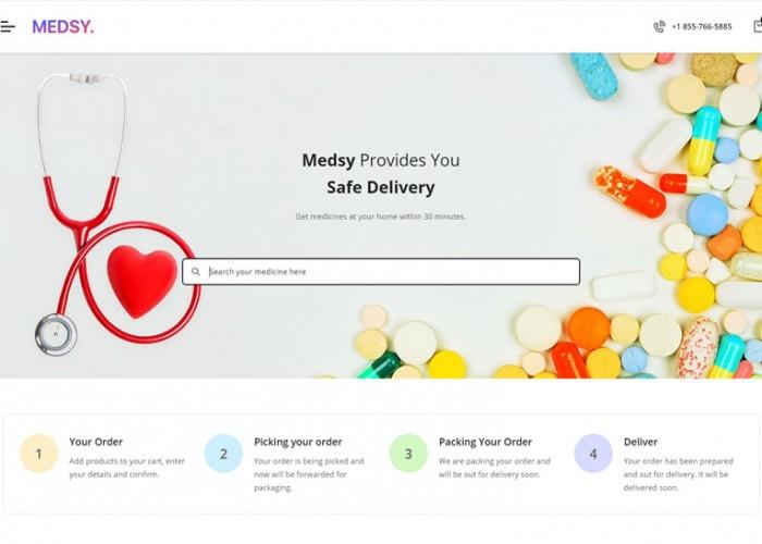 Medsy – Premium Responsive React Ecommerce HTML5 Template