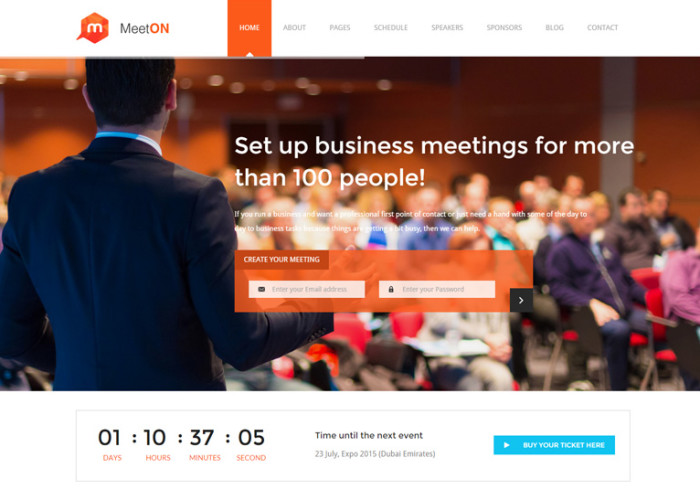 Meeton – Premium Responsive Conference & Event HTML5 Template