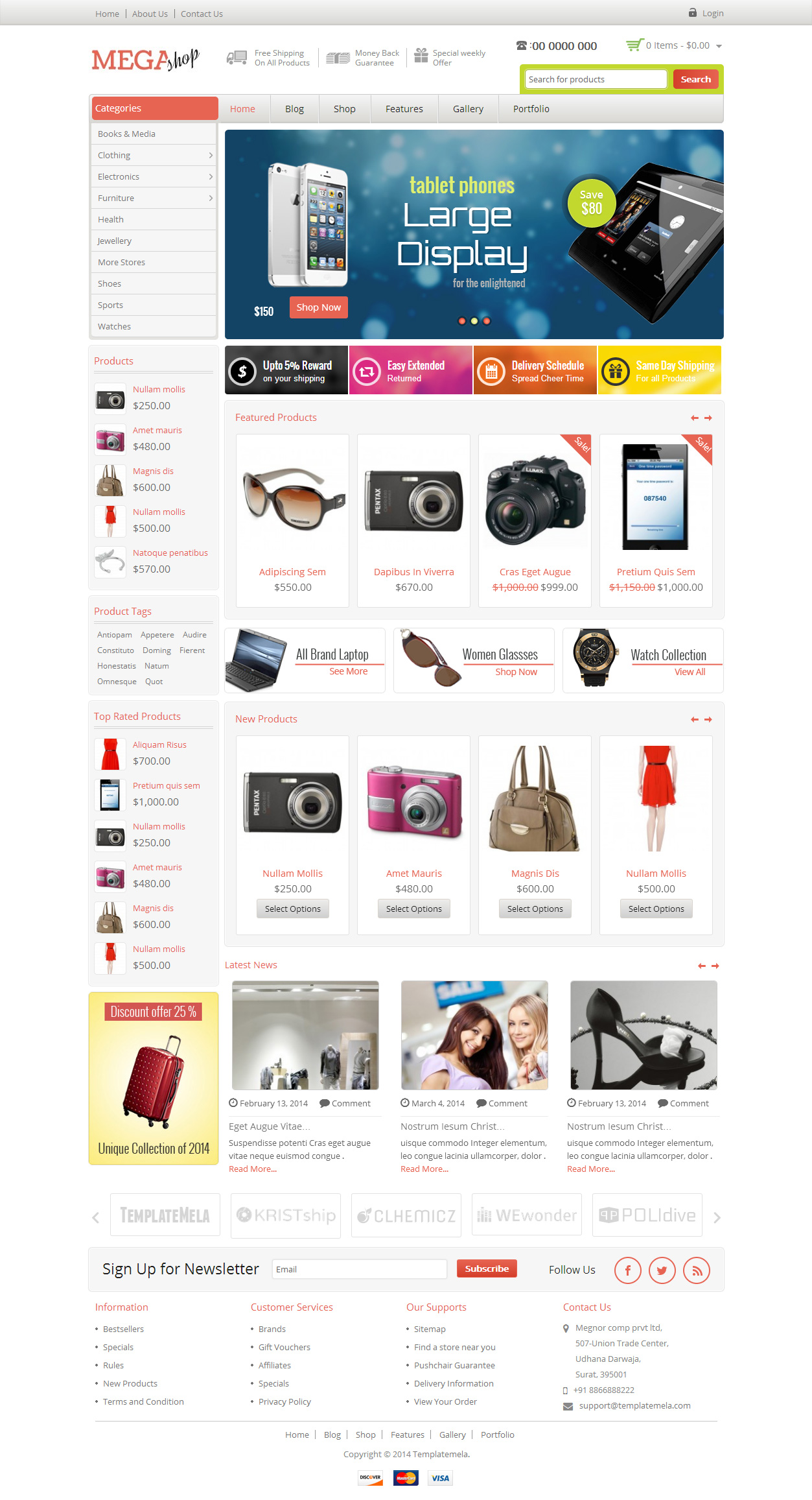 Mega Shop Premium Responsive Woocommerce Wordpress Theme