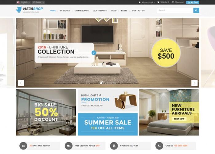 Megashop – Premium Responsive Multipurpose OpenCart Theme