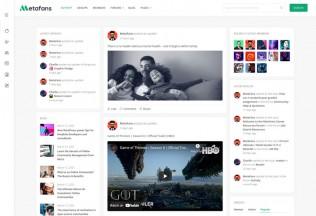 MetaFans – Premium Responsive Social Network WordPress Theme