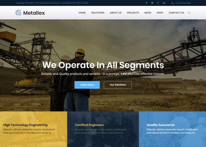 Metallex – Premium Responsive Industrial & Engineering WordPress Theme