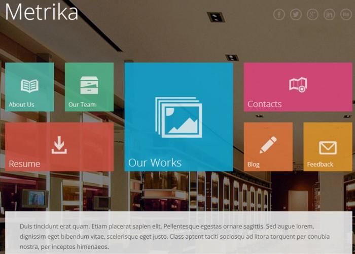 Metrika – Premium Responsive One Page HTML5 Theme
