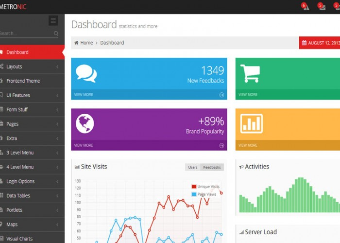 Metronic Theme and Admin Template from ThemeForest – Bootstrap Dashboard Panel