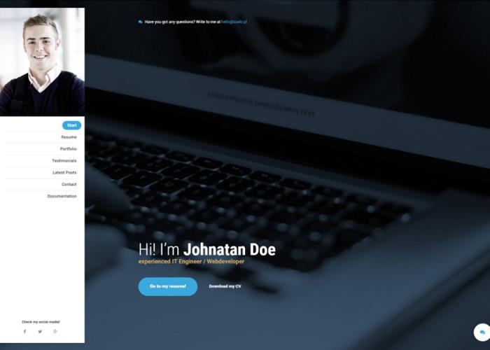 Mi. – Premium Responisve Personal Resume vCard HTML5 Template