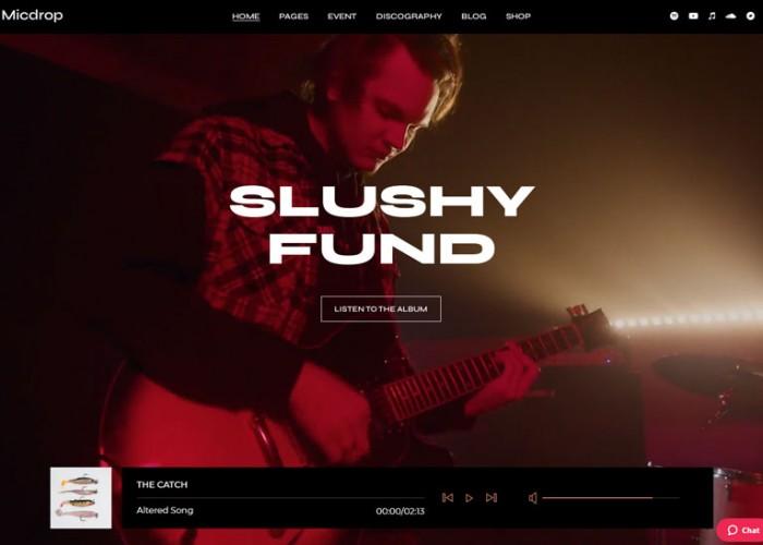 Micdrop – Premium Responsive Music WordPress Theme