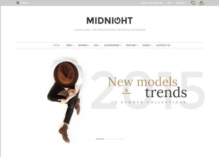 Midnight – Premium Responsive Magento Theme