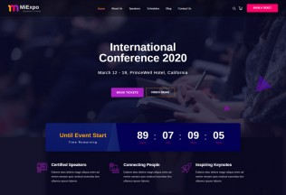 MiExpo – Premium Responsive Event Conference HTML5 Template