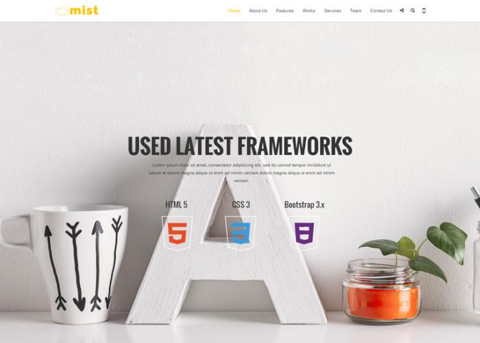 Mist – Premium Responsive Multipurpose HTML5 Template