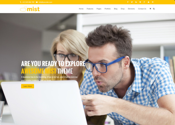 Mist – Premium Responsive Advanced Multi-Concept WordPress Theme