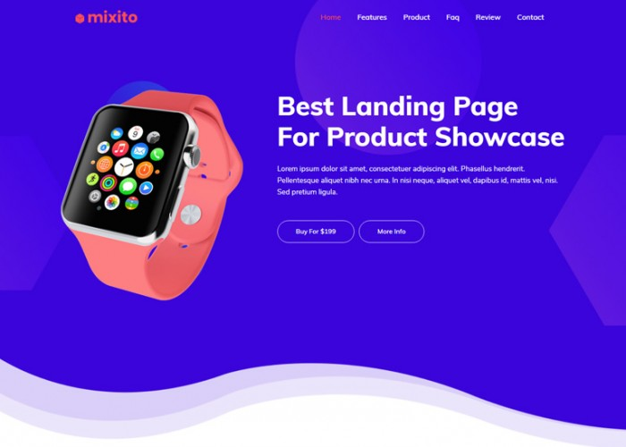Mixito – Premium Responsive Product Landing Page HTML5 Template
