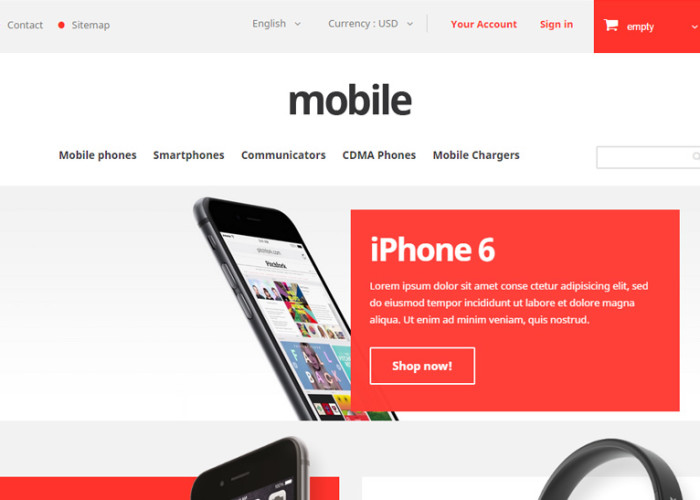 Mobile – Premium Responsive Mobile Phones Store PrestaShop Theme