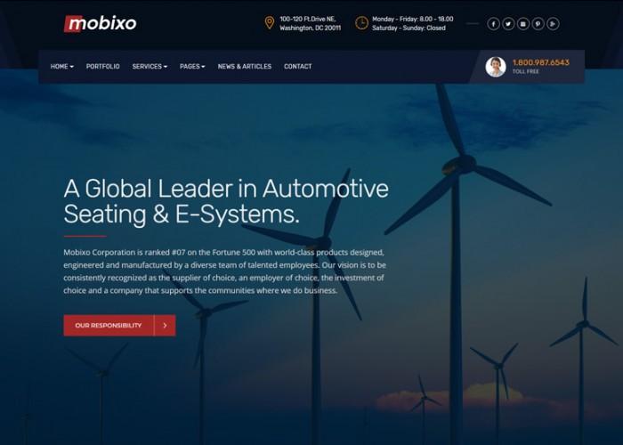 Mobixo – Premium Responsive Industry WordPress Theme