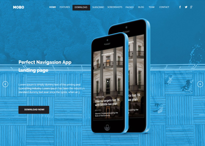 Mobo – Premium One Page Parallax Muse Template