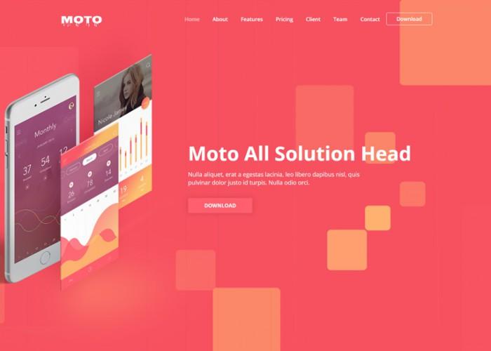 Moto – Premium Responsive Multipurpose Landing Page HTML5 Template