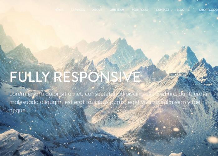 Mountain – Premium Responsive One Page Parallax WordPress Theme