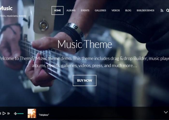 Music – Premium Responsive WordPress Music Theme