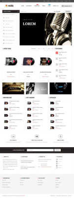 Best Responsive Music Store Prestashop Themes in 2015