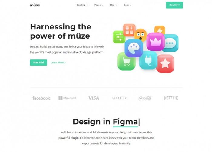Muze – Premium Responsive MultiPurpose HTML5 Template