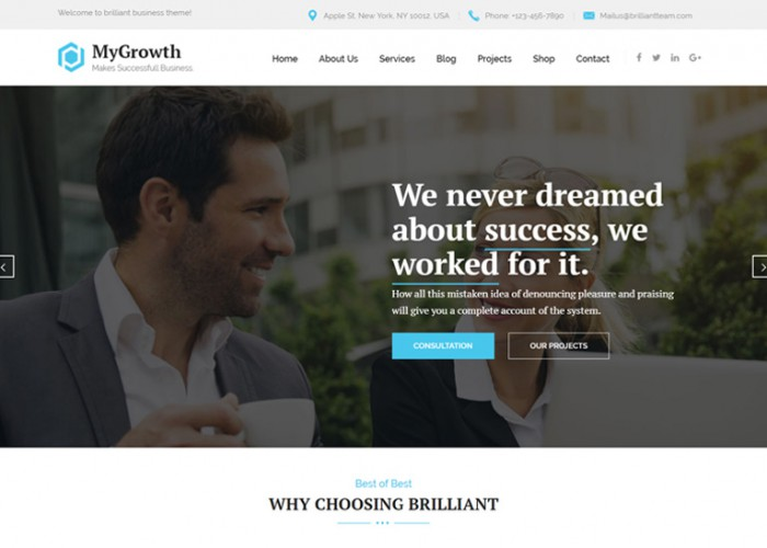 My Growth – Premium Responsive Business Consulting WordPress Theme