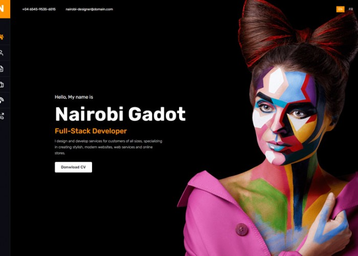 Nairo – Premium Responsive Personal Portfolio React HTML5 Template