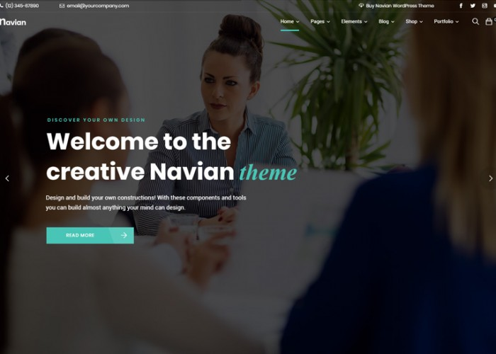 Navian – Premium Responsive MultiPurpose WordPress Theme