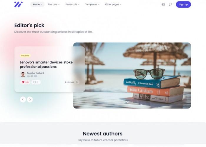 Ncmaz – Premium Responsive Blog Magazine React HTML5 Template