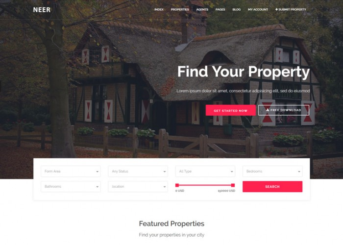Neer – Premium Responsive Real Estate HTML5 Template