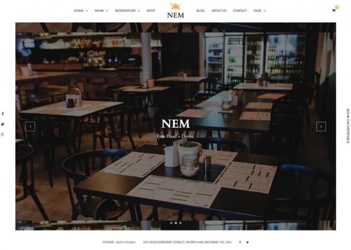 NEM – Premium Responsive Joomla Restaurant Template