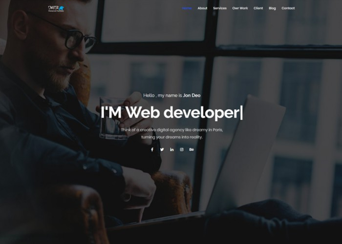 Ner – Premium Responsive Personal Portfolio HTML5 Template