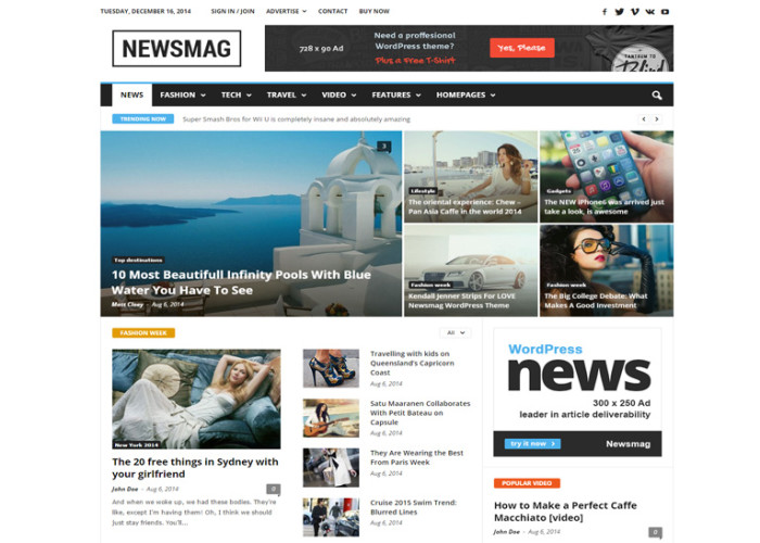 Newsmag – Premium Responsive News Magazine WordPress Theme