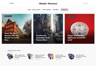 Newsource – Premium Responsive Blog Magazine WordPress Theme
