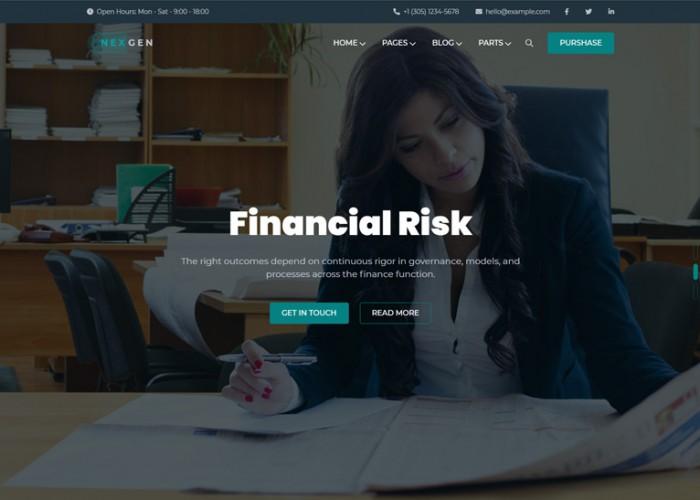 Nexgen – Premium Responsive Business & Consulting HTML5 Template