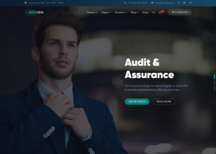 Nexgen – Premium Responsive Consulting & Logistics WordPress Theme