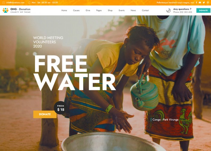 Ngo – Premium Responsive  Charity & Donation WordPress Theme